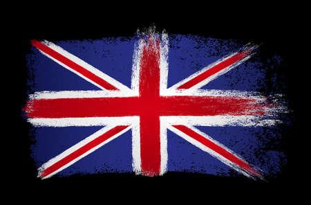 England flag with brush paint textured, background, Symbols of England , graphic designer element - Vector - illustration
