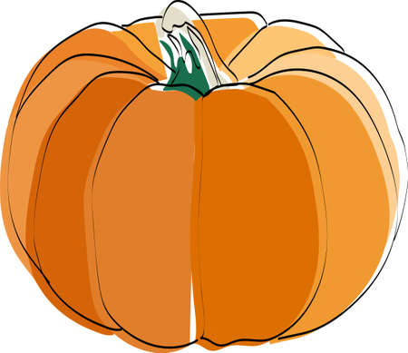 Silhouette of a vegetable. Pumpkin. Vector illustration.