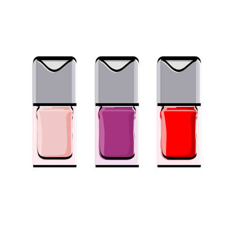 Accessories for manicure. Nail polish Vector illustration.