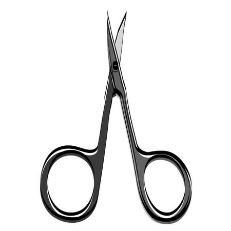 Accessories for manicure. Nail scissors. Vector illustration.