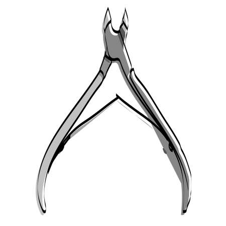 Accessories for manicure. Manicure nippers Vector illustration.