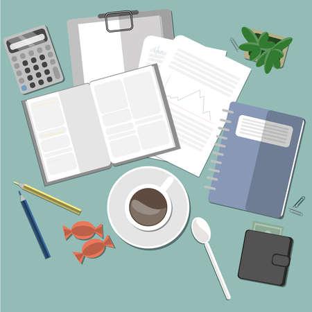 planta de cafe: espacio con el caf�, la planta y el portapapeles de trabajo.