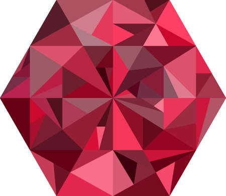 red diamond: Abstract red diamond on white.