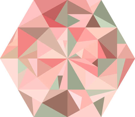 jewell: Abstract pink diamond on a white background. Polygonal shape. Concept of ice, diamond, jewell, crystal. Pink and brown pattern. Illustration