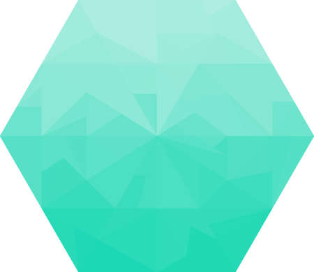 jewell: Abstract turquoise diamond on a white background.  Polygonal shape. Concept of ice, diamond, jewell, crystal. Illustration