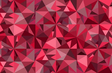 Abstract red diamond vector geometric art background.  Graphic wallpaper for luxury, expensive and passionate theme. Concept of crystal ice, jewel, treasure, diamond. Illustration