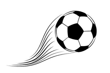 Fußball Ball isolated on a white background