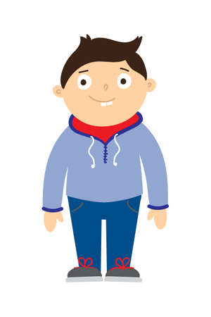 hoody: Boy in sport wear. Healthy kid in wearing sport hoody and sneakers. Energetic lifestyle, exercise for children. School sport uniform.