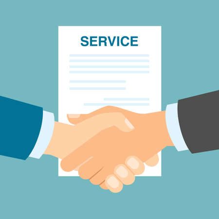 approving: Good service handshake. Approving good service and making contract. Business deal.