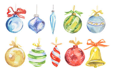 watercolor christmas toys set bright and colorful toys for christmas royalty free cliparts vectors and stock illustration image 63738389 - Sign Up For Free Christmas Toys