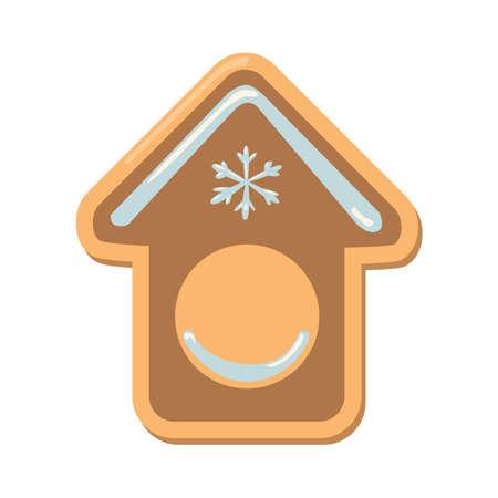 galleta de jengibre: Galletas de la Navidad chica. galletas de jengibre con la decoración aislada en el fondo blanco. regalo dulce y delicioso día de fiesta. Muchacha del ángel con pimiento verde. Casa.