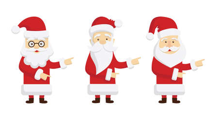 Isolated Santa Claus standing on white background.
