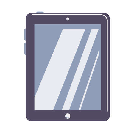 palmtop: Isolated tablet on white background. Device for reading and surfing the net.