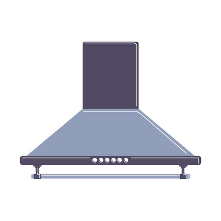 extractor: Isolated extractor hood on white background. Device for ventilation.