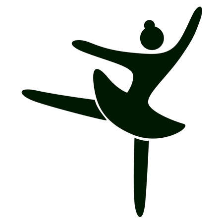 vector Ballet dancing icon on white background