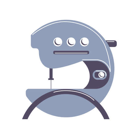 antique factory: modern sewing machine vector on white background Illustration