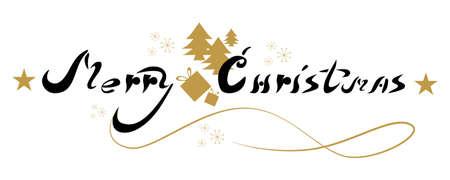 Cartel de feliz Navidad. Hermosa letras arte para la decoración.