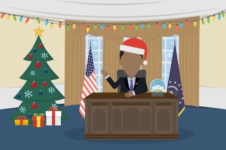 congressman: Russia December 12, 2016 Barack Obama in White House and santa hat.