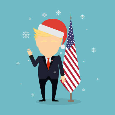New American president in santa hat