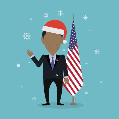 congressman: Russia December 12, 2016 Barack Obama american president in santa hat