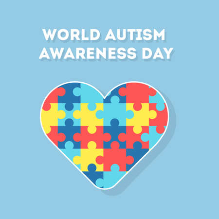 asperger: World Autism Awareness Day. Holiday or event for people with autism and other deseases. Illustration