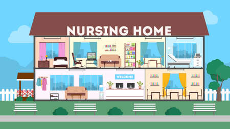 Nursing Home Cliparts Stock Vector And Royalty Free Nursing Home Illustrations