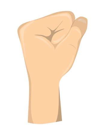 Hand fist gesture. Illustration