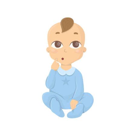 impatient: Thinking baby boy.
