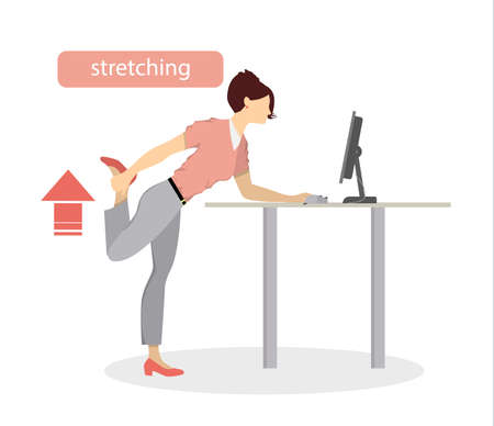 health and fitness: Sport exercises for office.