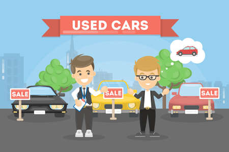 Used cars store.