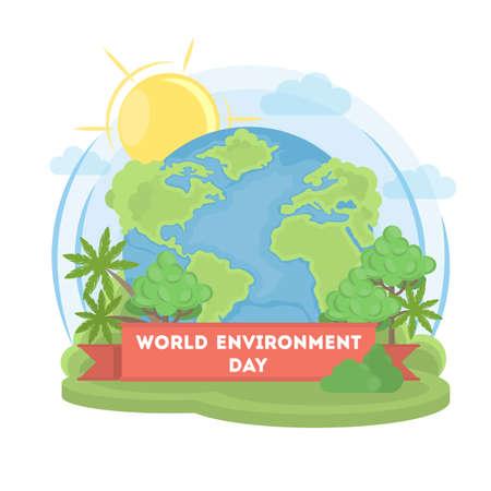 World environment day. Illustration