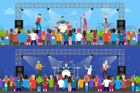 Open air concerts set.