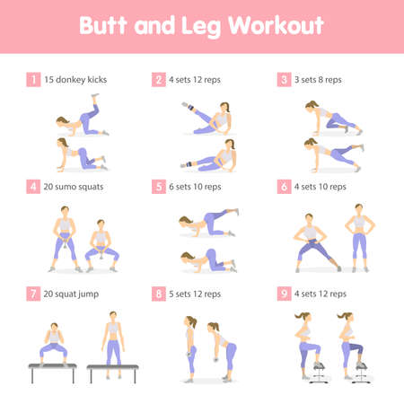 Butt and legs workout.