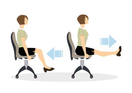 Sport exercises for office.