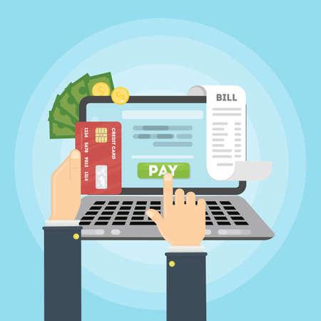 Geld bezahlen online.