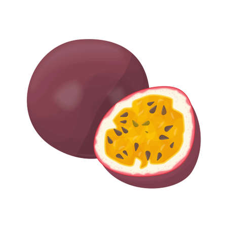 Fruits de la passion isolés.