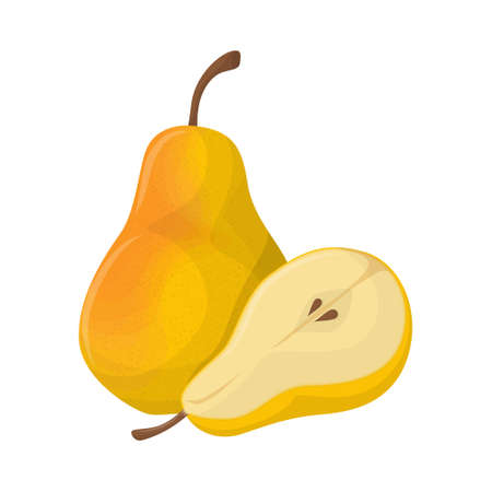 Isolated pear fruit.