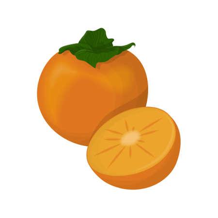 Geïsoleerd persimmon fruit.