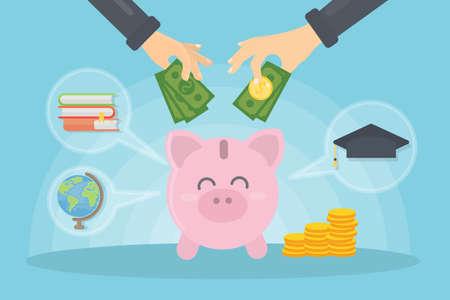 Money for education. Illustration