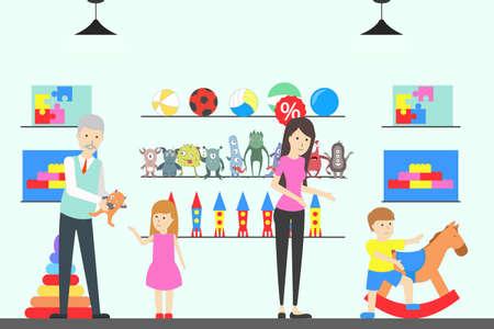 Toy shop interior. Ilustracja