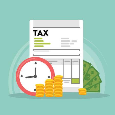 tax accountant: Tax concept illustration.