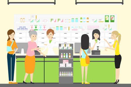 Menschen im Apothekenladen. Standard-Bild - 80089962
