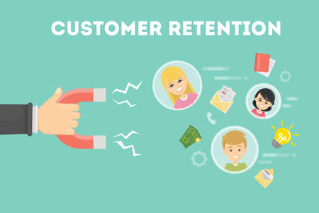 Customer retention concept.