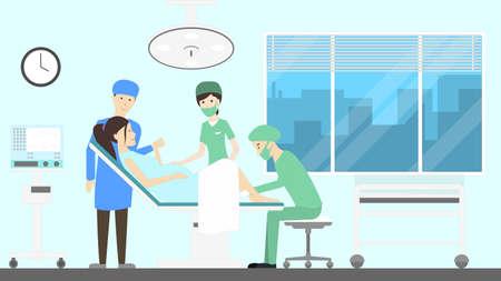 Maternity hospital ward.