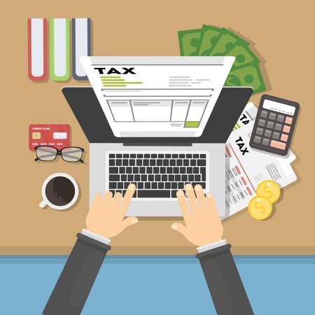 Tax concept illustration.