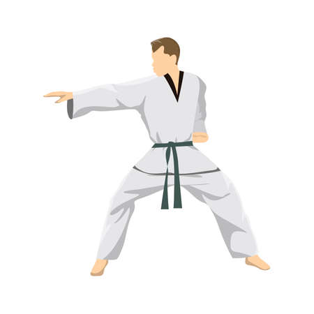 Taekwondo sport athlete.