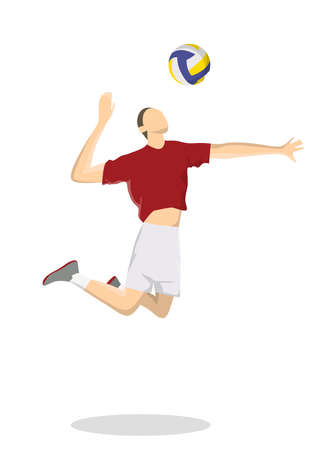Isolated volleyball player.