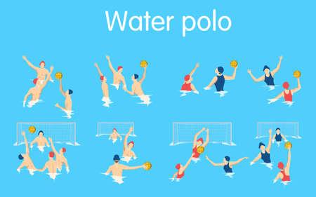 Water polo set. Illustration