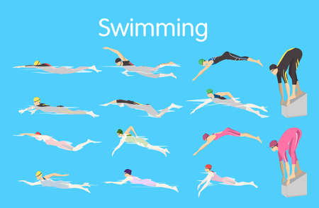 Types of swimming.