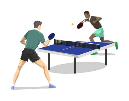 Ping-pong due. Archivio Fotografico - 82184015